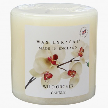 Wax Lyrical Wild Orchid Scented Pillar Candle